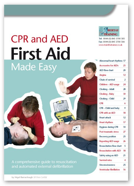 AED and CPR Training Course Book
