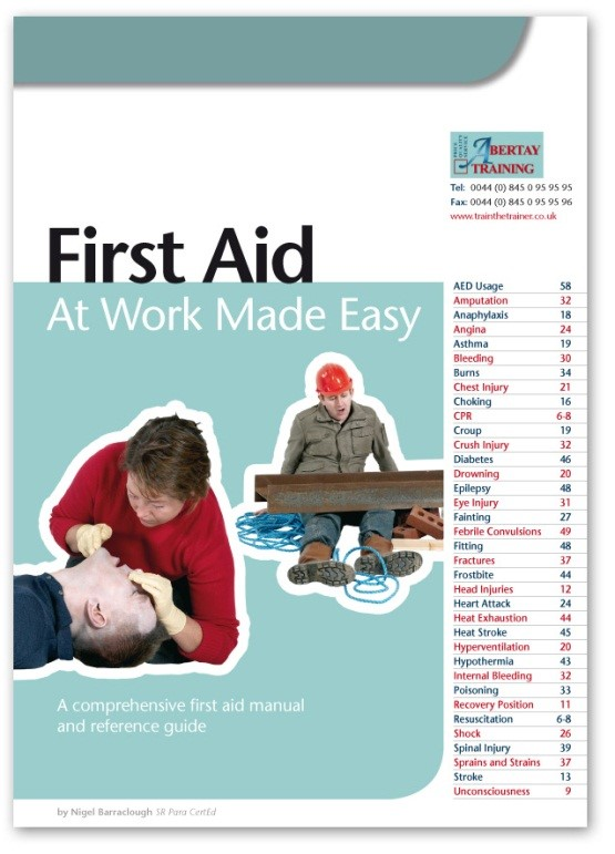First Aid at Work Training Book