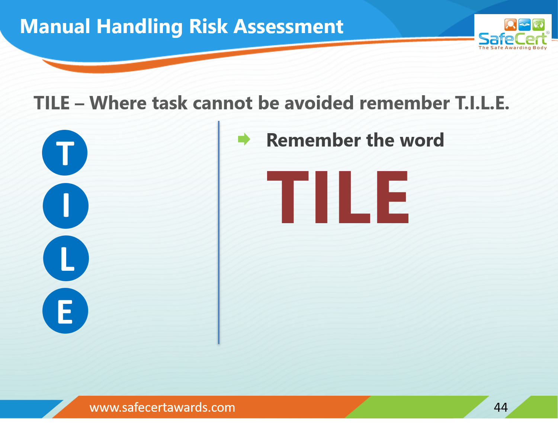 TILE Risk Assessment Question