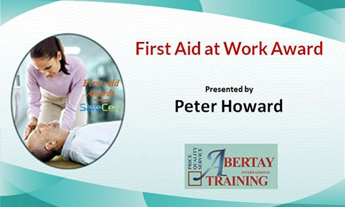 first aid work